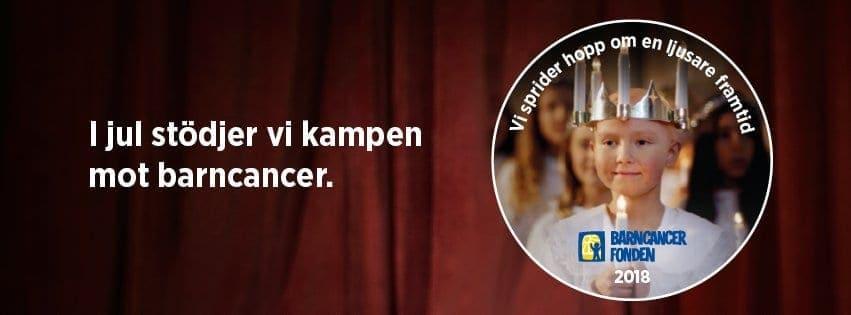I jul stödjer vi kampen mot barncancer - banner