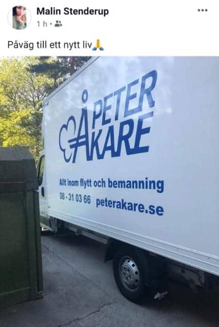Flyttbil från Flyttfirma Peter Åkare AB