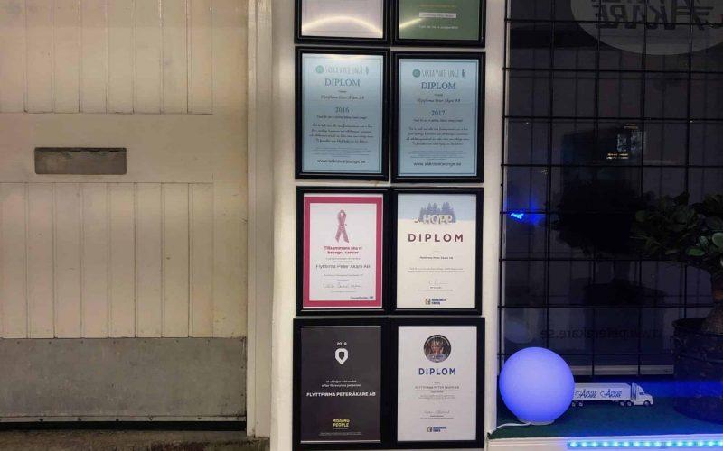 Diplom och certifikat hos Peter Åkare