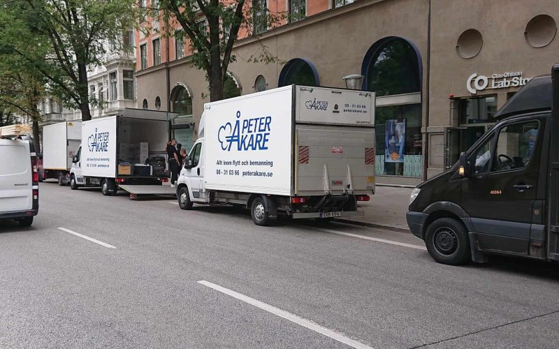 Flyttbil på Flyttfirma Peter Åkare AB